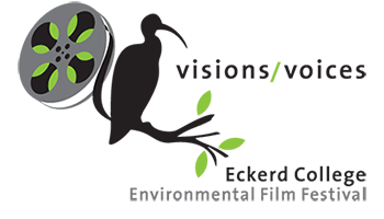 Environmental Film Festival logo showing ibis in palm tree with film strip